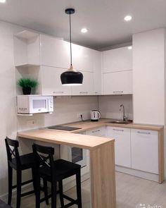 Kitchen Room Design, Condo Kitchen, Home Room Design, Apartment Kitchen, Apartment Interior, Home Decor Kitchen, Kitchen Interior, Interior Design Living Room, Apartment Design