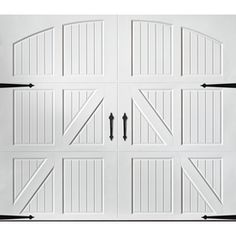 Pella Carriage House Series 108-In X 84-In White Garage Door 123513