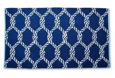Net Beach Towel, Midnight/French Blue