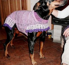 Large dog sweaters in any color  HANDMADE in any by popelkaLida, $69.00