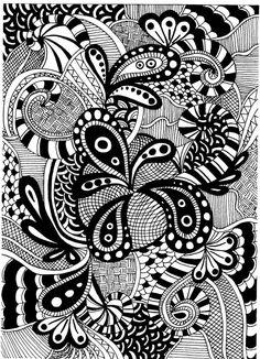 from les créations de Tatahari http://tatahari.canalblog.com/archives/dessins_et_zentangles/index.html #doodling #zentangles