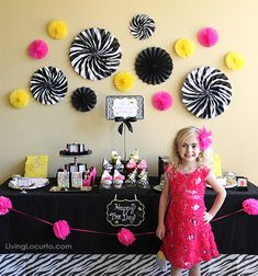 Little girl party ideas at LivingLocurto.com
