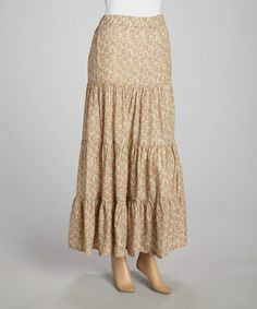 Love this Olive Floral Peasant Maxi Skirt by Aryeh on #zulily! #zulilyfinds