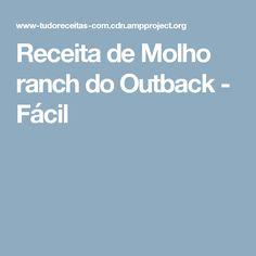 Receita de Molho ranch do Outback - Fácil