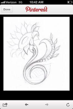 "Sunflower tattoo idea ""for mom """