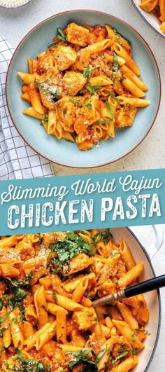 One-Pot Cajun Chicken Pasta – Supergolden Bakes This Cajun Chicken Pasta ticks ALL the boxes: quick, easy, delicious and Syn Free on Slimming World! A simple chicken pasta recipe that the whole family will love – on the table in under 30 minutes. Slimming World Chicken Recipes, Easy Chicken Dinner Recipes, Chicken Pasta Recipes, Healthy Pasta Recipes, Cajun Pasta Recipe, Slimming World Pasta Dishes, Easy Chicken Pasta Bake, Slimming World Meals, Pasta Bake Recipes