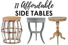 Looking for a affordable side table for your living room? From farmhouse style to a more modern look, there is something for everyone here! See more on http://ablissfulnest.com/ #livingroomdecor #farmhousedecor