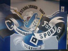 Schönes HSV Graffiti am Stadion
