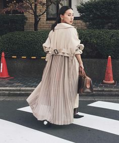 AMERI(アメリヴィンテージ)の「SEE THROUGH BACK PLEATS TRENCH(トレンチコート)」 - WEAR Clothes Line, Dope Outfits, Runway, Chic, Fabric, Jackets, How To Wear, Color, Shopping