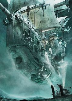 It's a steampunk ghost ship, Flying Dutchman, by Michał Stelmachowicz. http://www.pinterest.com/pin/381257924675836370