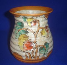 VINTAGE CZECHOSLOVAKIA HAND PAINTED VASE SIZE 5 INCHES TALL