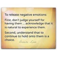 release negative emotions