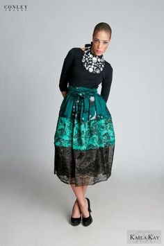 Kaela Kay Fall/Winter 2013 Mixed Prints! High Waisted Skirt