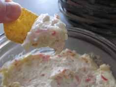 CRAB RAGOON DIP...FANTASTIC...try dipping it in sweet sour sauce after u load it on something.....