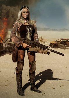Lucky Apocalypse / female wasteland warrior / survivor / zombie hunter / a really big gun / post apocalyptic / women's cosplay / LARP