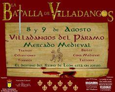 """Los días 8 y 9 de Agosto en Villadangos del Páramo, la tradicional Feria – Mercado: """"La Batalla de Villadangos""""."""