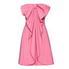 VALENTINO : STRAPLESS BOW DRESS