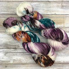 Hand Dyed Yarn | Superwash Merino Wool/Nylon Blend | Fluffy Sock/Fingering Weight | 100 g. | Chocolate Orange by Yarn Café Creations