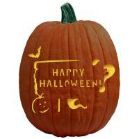 HappyHalloweenSignPumpkinCarvingPattern