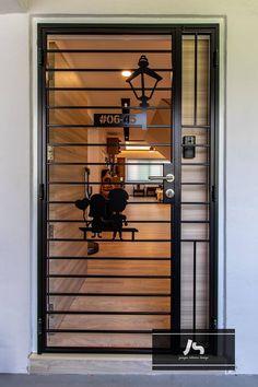 Grill Gate Design, Window Grill Design Modern, Front Gate Design, House Gate Design, Door Gate Design, Main Door Design, Entrance Design, Home Room Design, Steel Grill Design