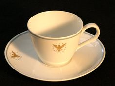 Pan Am Cup  Saucer Airline Collectible by heritagetrade on Etsy, $21.00