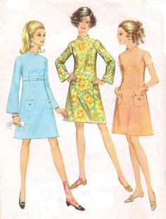 Vintage 60s McCalls Sewing Pattern 9515 Womens Mod by CloesCloset, $12.00