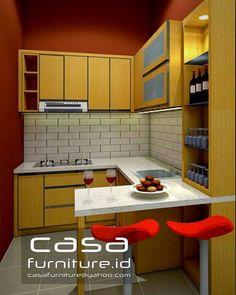 Desain Kitchen set cluster Mexicano No 15 Delatinos BSD City,jasa Kitchen set murah tangerang Commercial Interior Design, Office Interior Design, Commercial Interiors, Kitchen Sets, Kitchen Island, Kitchen Cabinets, Kitchen Design, Loft, Ideas
