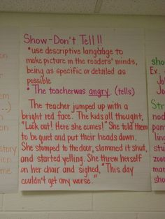 Branson Reader's Workshop / Anchor Charts Photos Show.  Don't tell.