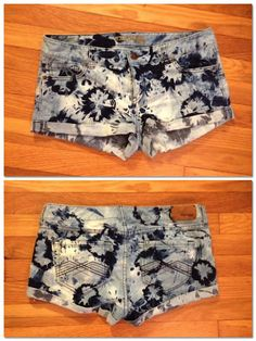 DIY Jean shorts and bleaching techniques