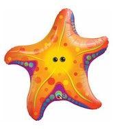 """$2.56  cheapest balloons - 30"""" Super Sea Star Fish Jumbo Packaged Mylar Balloon"""