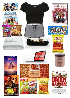 """""""Netflix/Movie night"""" by boss-fleek ❤ liked on Polyvore featuring Topshop, UGG Australia, Frette, River Island and Hard Candy"""