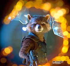 Immagine di gif, Marvel, and rocket raccoon