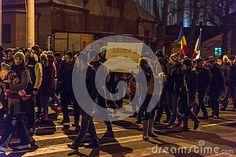 Sibiu, Romania. 25000 Romanians demonstrated against government decree decriminalizing some corruption offences.