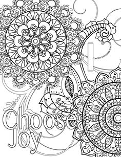 Words coloring page : I choose joy                                                                                                                                                                                 More