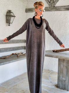 fd8433392 Brown Winter Maxi Dress   Sweater dress   Winter Dress   Long Dress   Plus  Size Dress   Knit Dress   Plus Size dress   Long dress    35158