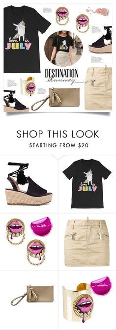 """Destination Runway"" by mahafromkailash ❤ liked on Polyvore featuring Dsquared2 and Bebe"