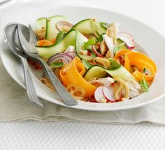 A no-cook main course salad with all the light, fragrant flavours of Southeast Asia such as peanut, chilli, mint and soy