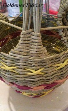 Плетение из газетных трубочек: Курочка, пасхальная поделка. Круглая форма. Ручка. Интерьерный декор.