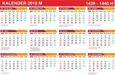 Gratis Download Template Kalender 2018 cdr | kanglux