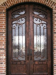 Iron and steel exterior doors will last for generations. At Eden Windows & Doors, we have the best Iron and Steel Exterior Doors in Tulsa, Oklahoma. Cool Doors, Unique Doors, Door Design, Exterior Design, House Design, Grand Entrance, Entrance Doors, Doorway, Main Door