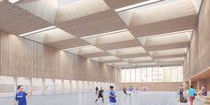 Tekhnê Architectes   Gymnase omnisport bois-paille
