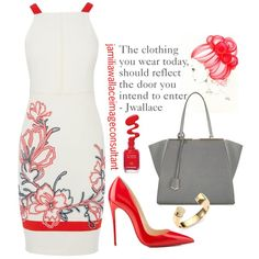 Ideal Image by jamilia-wallace on Polyvore featuring moda, Karen Millen, Fendi, Yves Saint Laurent and Christian Louboutin