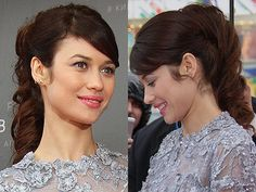 This bouncy ponytail with a side-sweeping fringe is utterly romantic #hairspiration
