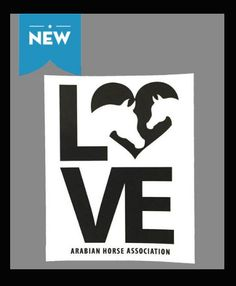 AHA Love logo in black with a white background. This decal is perfect for any window, car or trailer. 4 x 5 inches