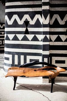 Contemporary Design Africa - Featured designer: Ebony and Wooden bench by Nulangee Design, Senegal. Image courtesy David Crookes for Design Network Africa.