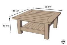 Square Coffee Table w/ Planked Top { Free DIY Plans } Square Plank Coffee Table – Dimensions Coffee Table Plans, Outdoor Coffee Tables, Rustic Coffee Tables, Diy Coffee Table, Decorating Coffee Tables, Coffee Table Design, Diy Table, Square Patio Table, Large Square Coffee Table