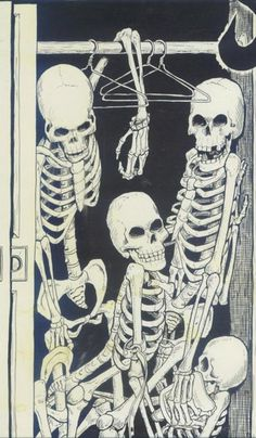 #ClosetSkellies skeletons in the closet