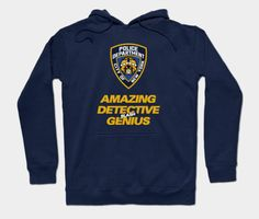 Your place to buy and sell all things handmade Brooklyn Nine Nine, Graphic Sweatshirt, T Shirt, Hoodies, Sweatshirts, Diy Clothes, Laptop Sleeves, Detective, Funny Shirts