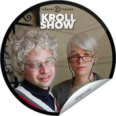 """one of my all time fave GG 'Kroll Show' stickers. Gil and George, """"oh, hello"""" ..."""
