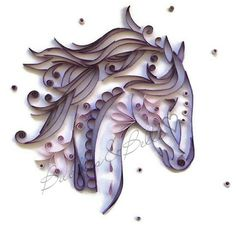 Horse wall art Purple horse Horse art work by BubblesAndBellle